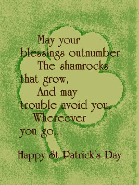 Short Saint Patricks Day Poems 2013 St. Patrick's Day