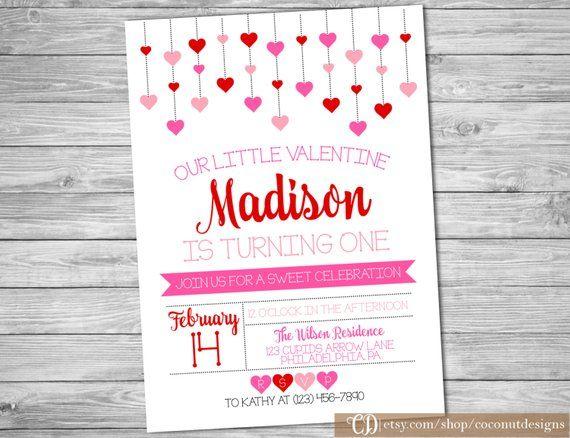 Valentines Birthday Invitation