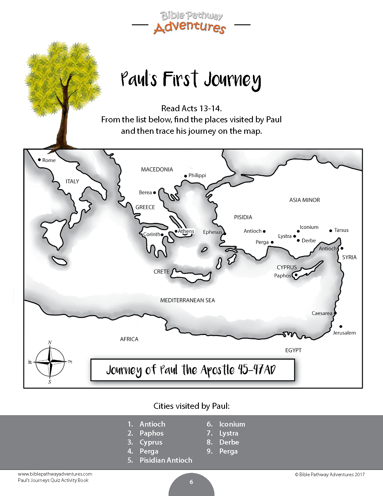 Paul S Journeys Quiz Activity Book