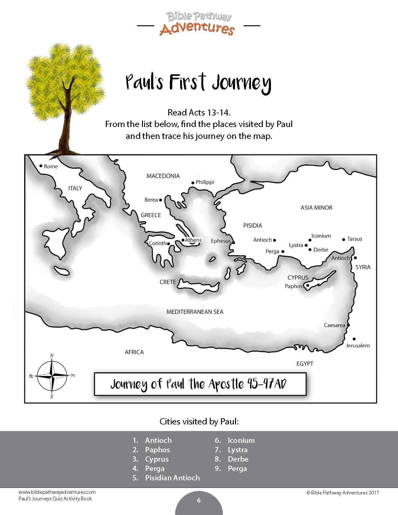 Paul S Journeys Quiz Activity Book