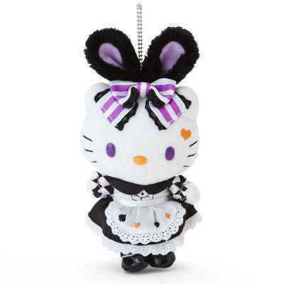 Hello Kitty Mascot Charm Holder Key Chain Plush Doll Halloween 2015 SANRIO JAPAN