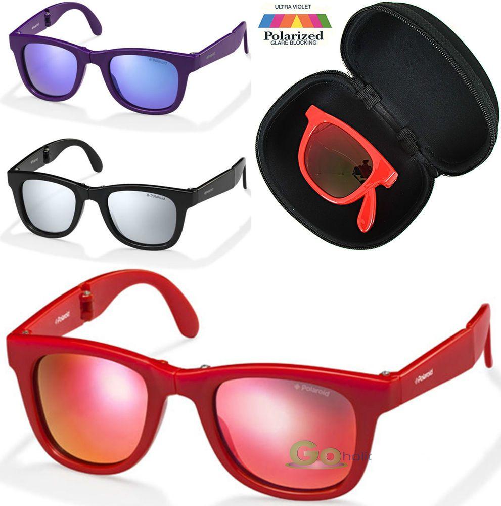 3beb08158e08 Kids Designer Sunglasses Polaroid Polarised Folding Wayfarer Design UVA/B  UV400 in Clothes, Shoes