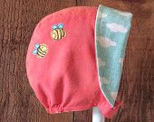 The Bees Knees Reversible Baby Sun Bonnet Hat