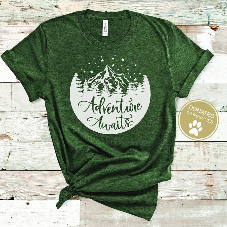 Short Sleeved T-Shirt All Good Things Are Wild And Free Nature Camping Lover Design
