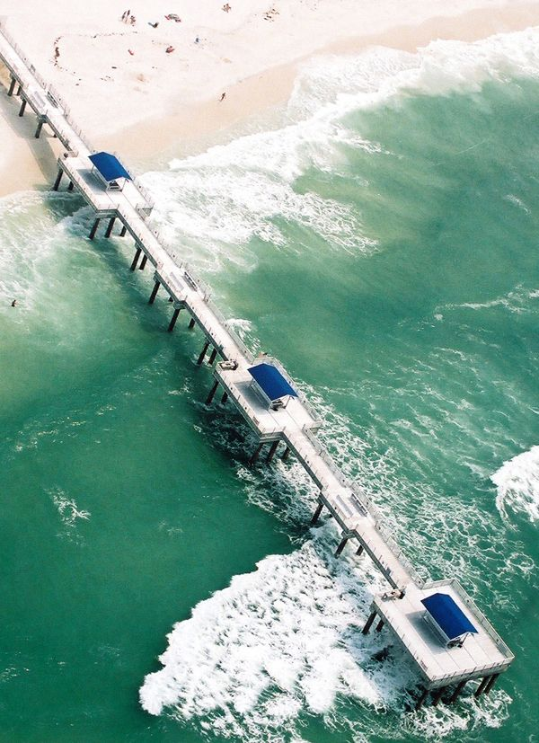 Aerial View Of The Fishing Pier In Orange Beach At Four Seasons Visit Http