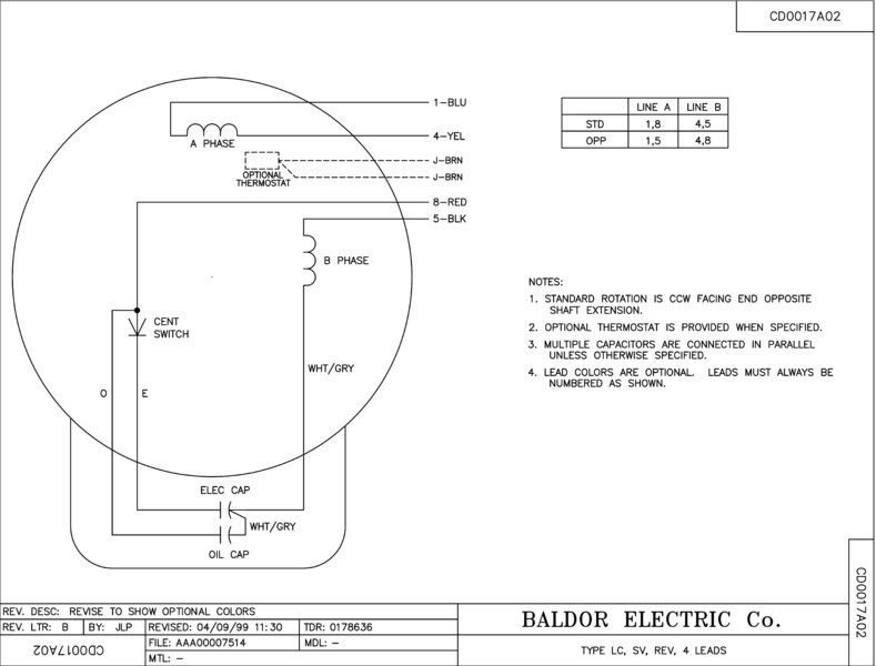 50 Baldor Reliance Motor Wiring Diagram Fr6p Di 2020