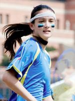 "Vanessa Goh | Chaser | ""Vanessa uses a quick, aggressive style of play, and is not the largest fan of taking 'no' for an answer."" #Quidditch http://www.internationalquidditch.org/2012/05/meet-team-usa/#"