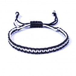 Bracelet Brésilien Beach Blanc Noir
