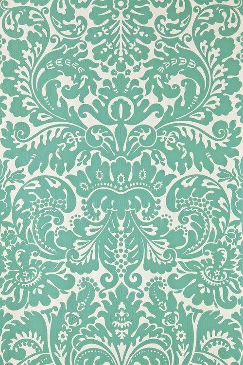 Design Pattern Green White Background