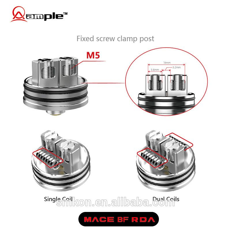 Order Now! Latest squonk mods RDA Ample Mace BF with M5 big