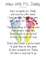 photograph relating to Walk With Me Daddy Poem Printable called Produce.Craft.Delight in.: Wander With Me, Daddy Totally free Printable