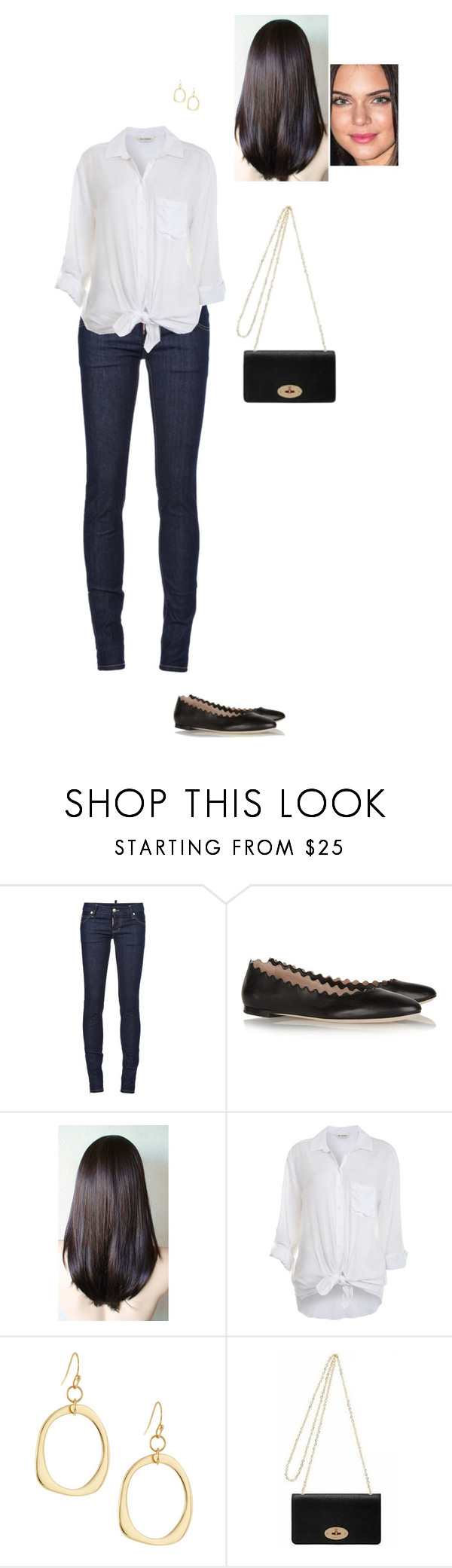 """Sem título #8197"" by gracebeckett ❤ liked on Polyvore featuring Dsquared2, Chloé, Miss Selfridge, Lydell NYC and Mulberry"