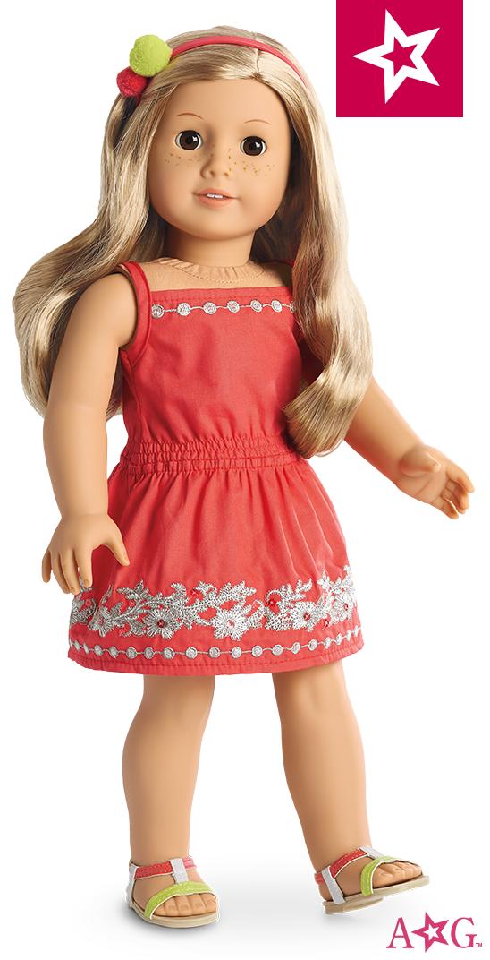 224420176 Sunny Day Dress for 18-inch Dolls | ropa y zapatos para muñecas ...
