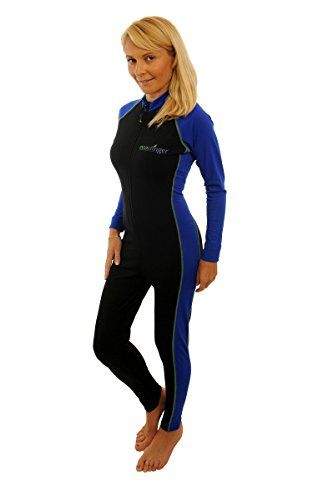 2e3ec8007c7 Surf · Swimming · Swim · Scuba Diving · EcoStinger Women Sun Protective  Full Body Stinger Swimsuit XL Black Royal Lime stitch EcoStinger http: