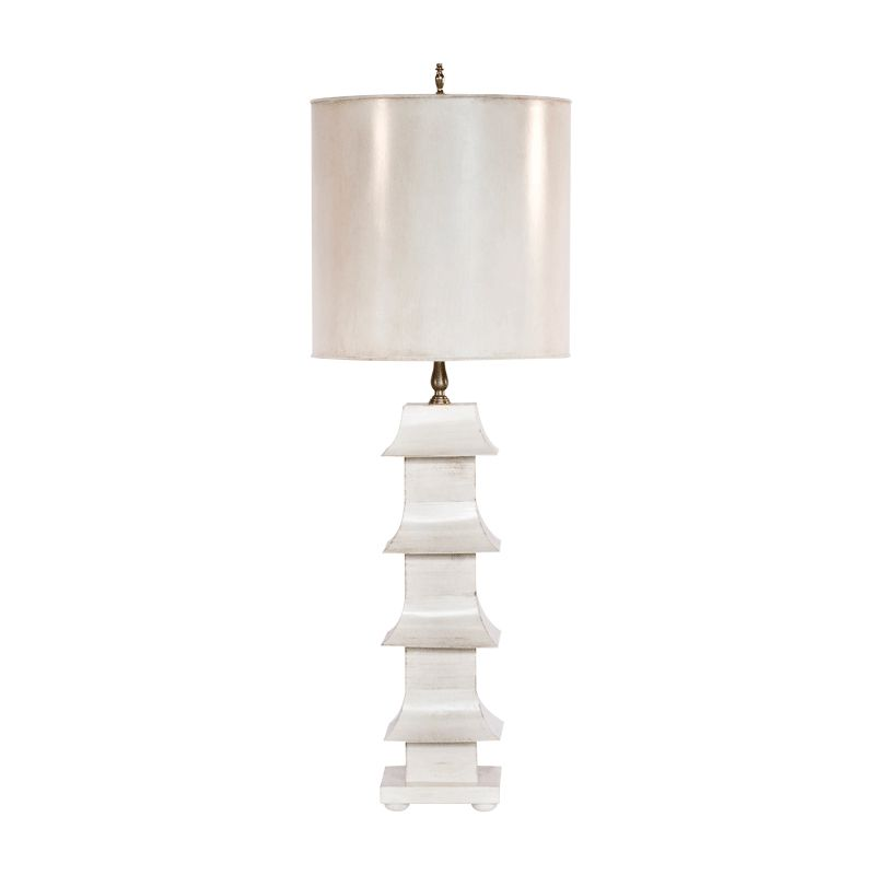 World Away Antiqued Cream Painted Tole Pagoda Lamp With 11 Dia Painted Tole Shade Lmph7 Table Lamps For Sale Buy Lamps Lamp