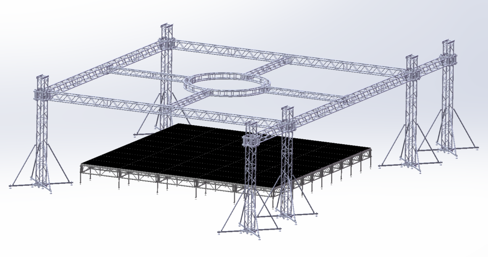 Pin On Stage Truss System