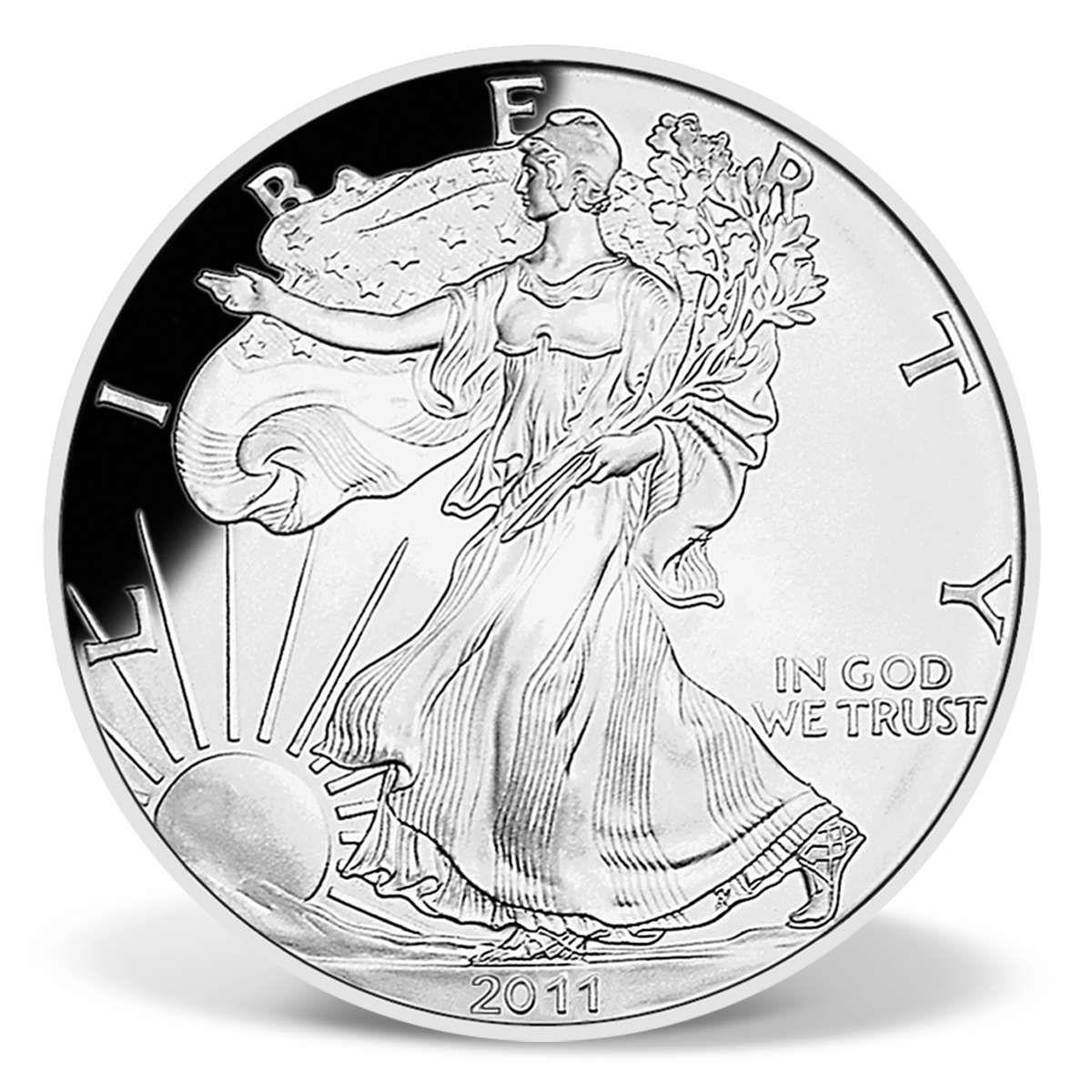 2011 Half Pound Silver Eagle Replica Coin Bullion Coins Silver Eagle Coins Silver Eagles