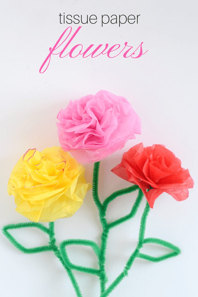 Diy tissue paper flowers tissue paper flowers tissue paper and tissue paper flowers kid craft mightylinksfo