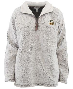 7dda8512454 Pressbox Women's Oregon Ducks Sherpa Quarter-Zip Pullover - Gray XL