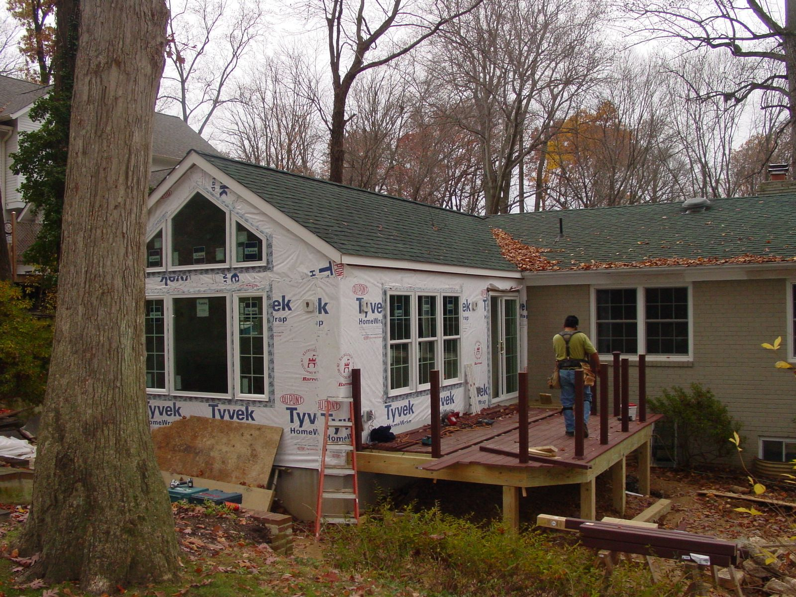 Family room addition on a rambler addition to a rambler for Modular sunroom