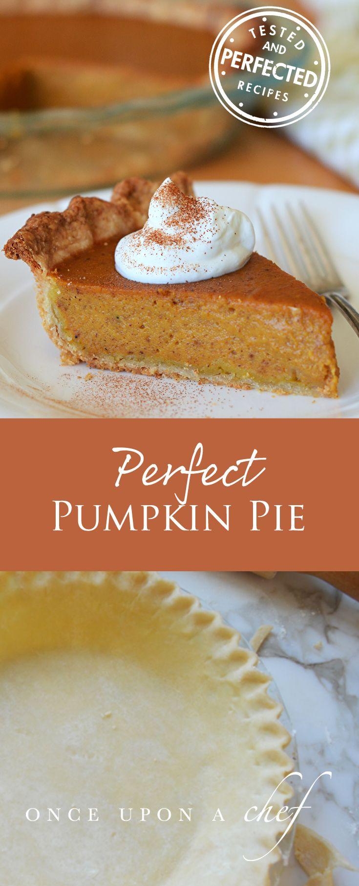 Perfect Pumpkin Pie - Once Upon a Chef #pumpkinpierecipe