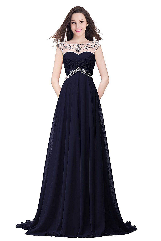 MisShow Damen Elegant Chiffon Abendkleider Ballkleider Partykleid