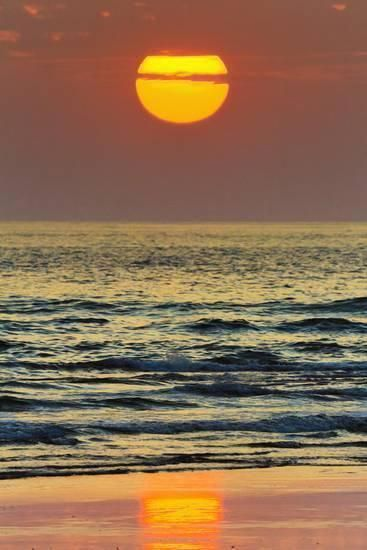 The #sun Setting Off Playa Guiones Surf Beach Photographic Print by Rob Francis at AllPosters.com