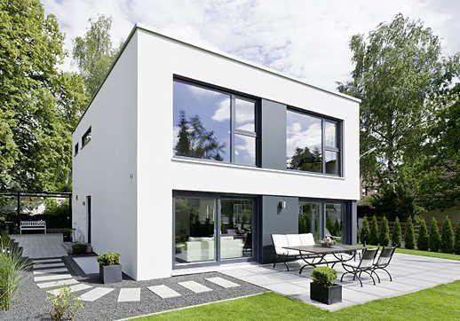 Plano De Casa Dos Pisos Y Techo Plano Facade House House Designs Exterior House Exterior