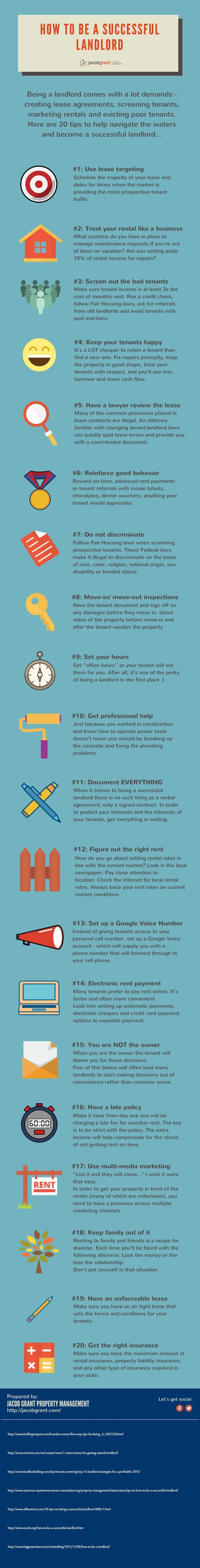 20 Tips To Be A Successful Landlord Being A Landlord Rental Property Management Real Estate Tips