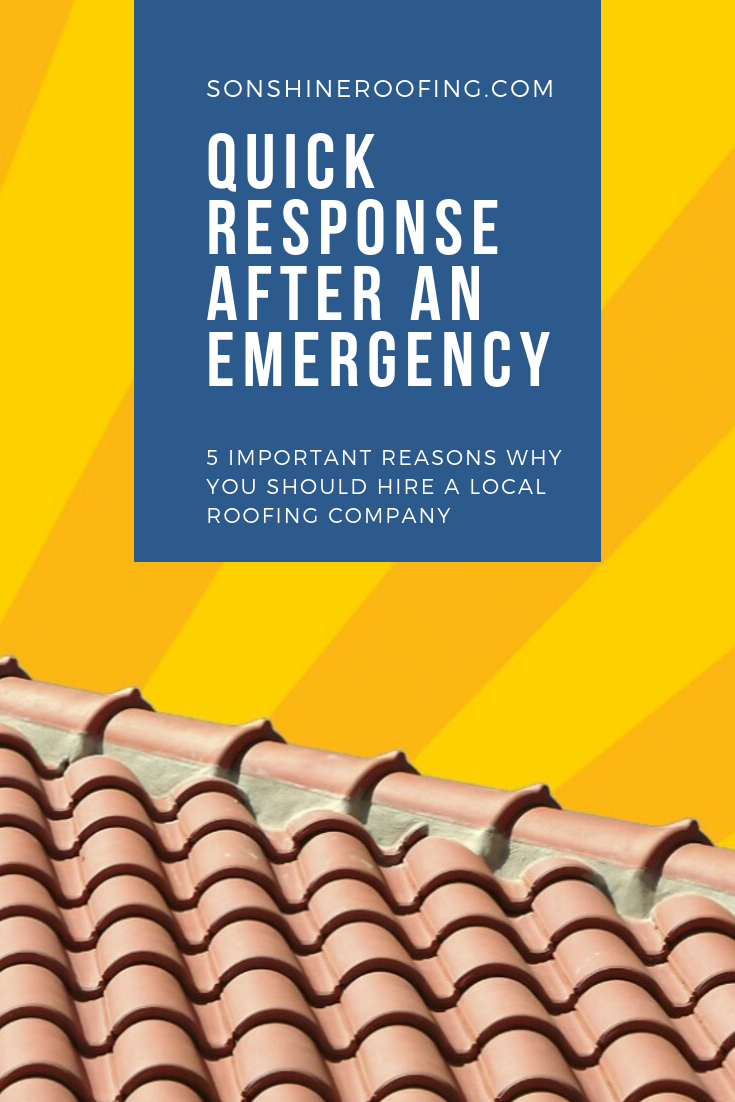 5 Important Reasons Why You Should Hire A Local Roofing Company Heavy Rains And High Winds Can Strike Unexpectedl Roofing Roofing Companies Roofing Contractors
