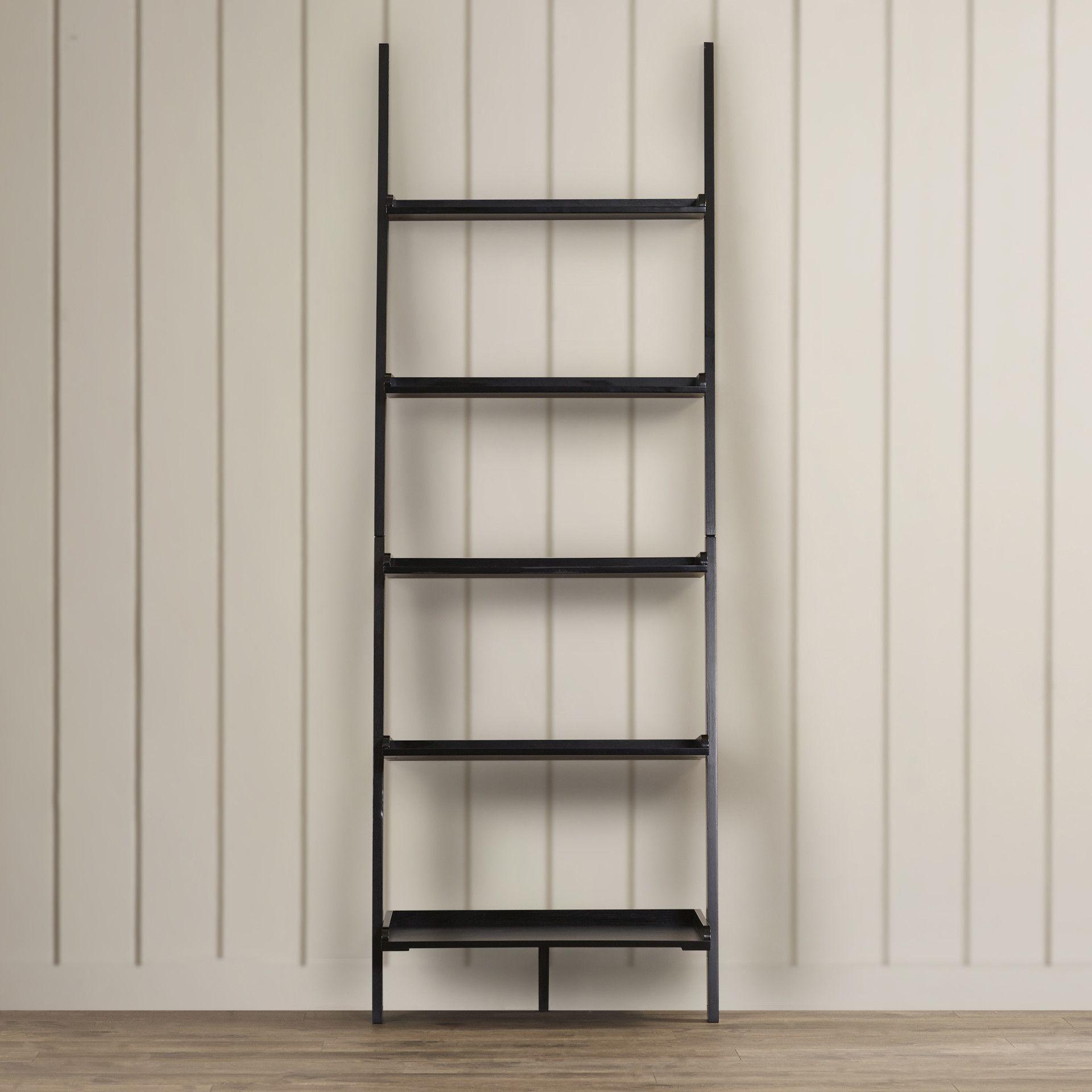 Beachcrest Home Merrimack Ladder Bookcase Allmodern Leaning