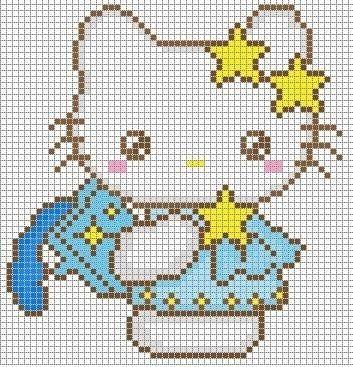 Patrones de punto de cruz para imprimir 05 | stitches | Pinterest ...
