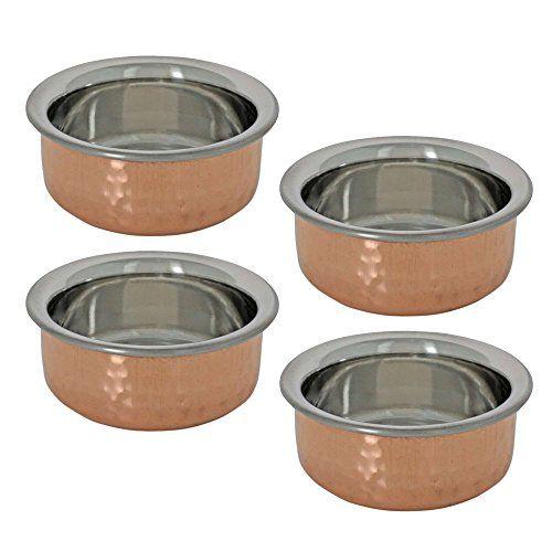Handgemachte Katori Indische Gerichte Set Der 4 Kupfer Schalen Traditionelle Indische Suppenteller Indian Kochutensilien Kochutensilien Koch Utensilien
