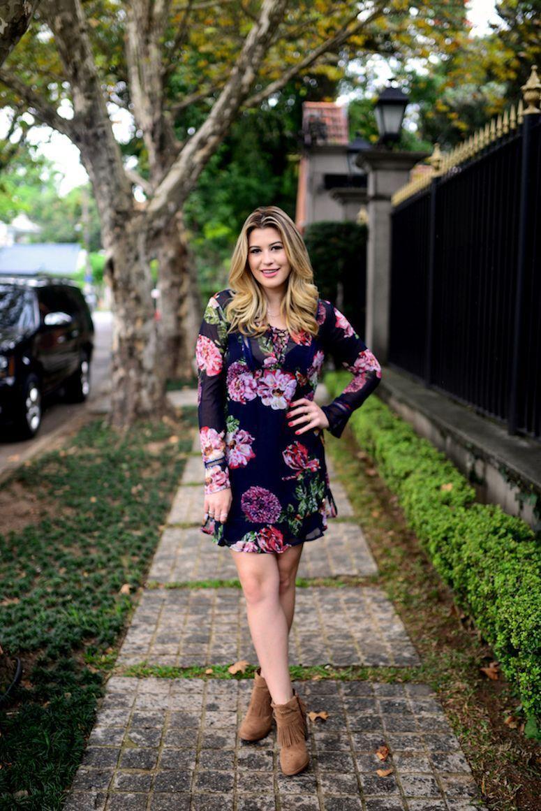 Vestido floral com botas: Dicas de como usar e looks