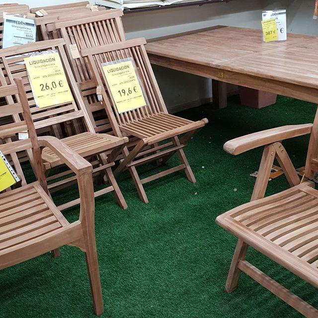 Estamos liquidando #muebles de #madera #teca las sillas con un 60 ...