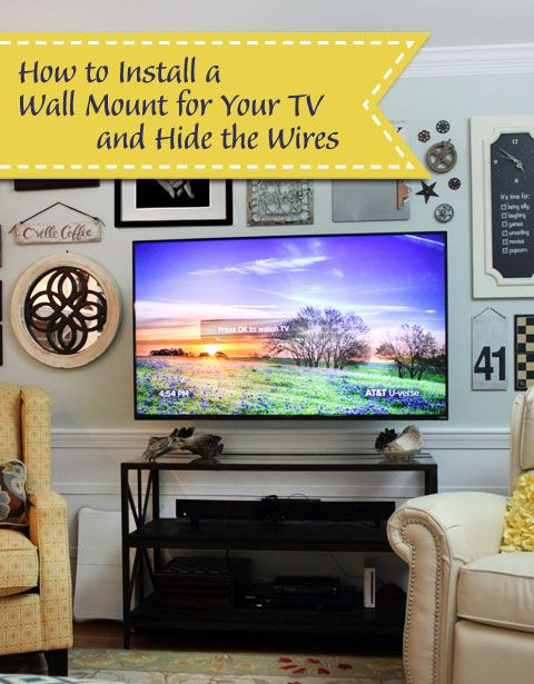 Wall Mounted Tv With Hidden Wires Tutorial Pretty Handy Girl Wall Mounted Tv Mounted Tv