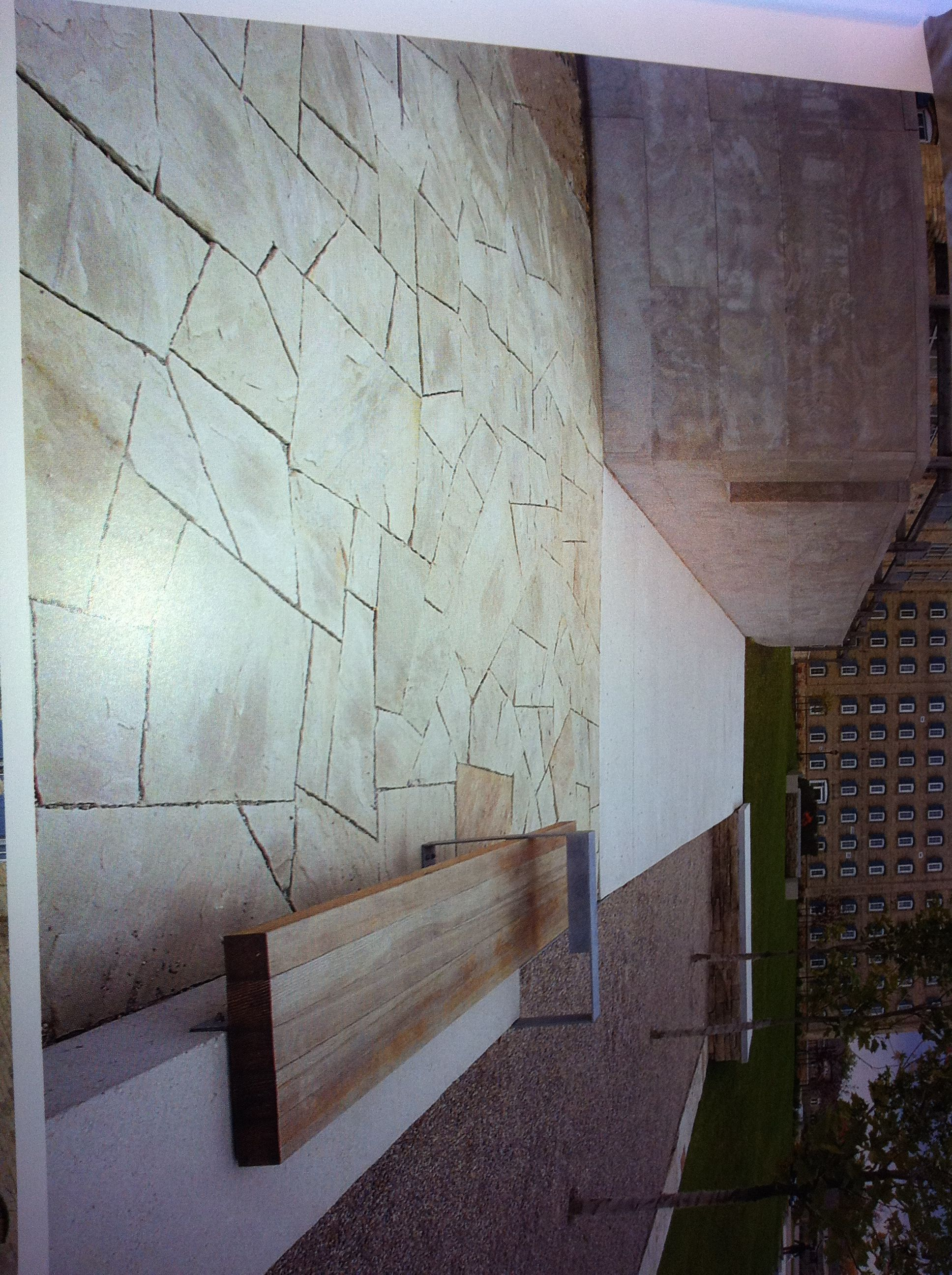 Urban Landscape Like Stone Work Concrete Bench Bench With