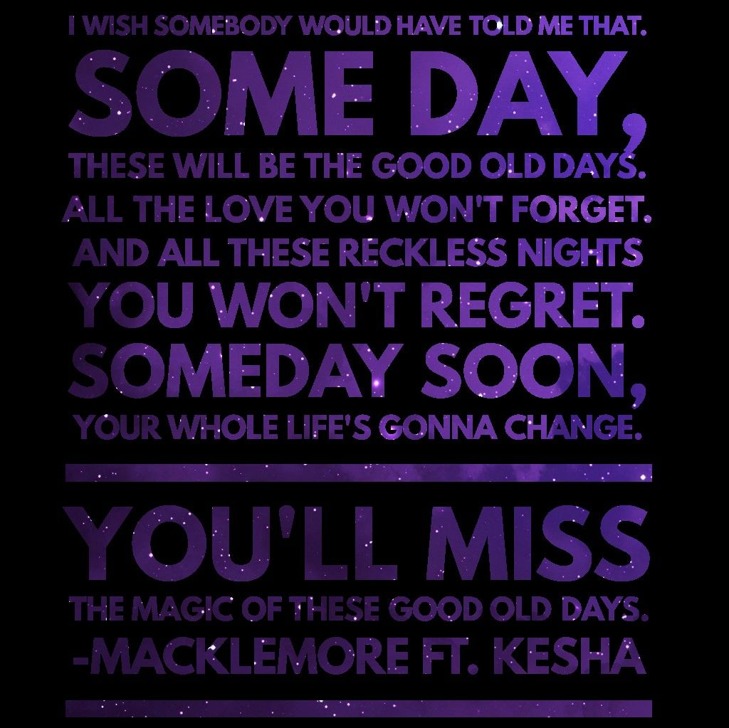 Macklemore • Good Old Days feat Kesha