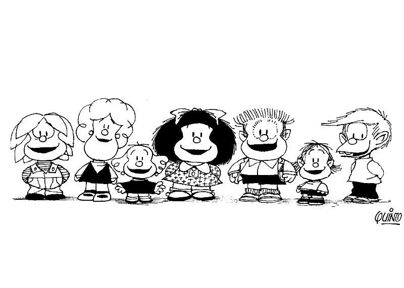 Dibujos para Colorear Mafalda 1  Dibujos para colorear para nios