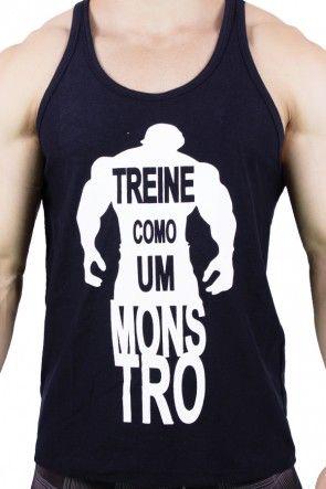 48c6f7b33e7ba Camiseta Regata (Treine Como Um Monstro)