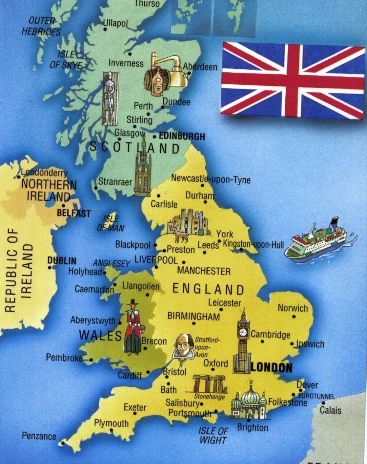 U K Map Hartă Turism