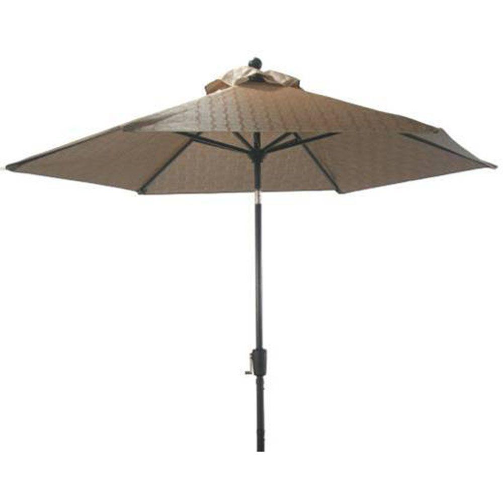 Martha Stewart Living Solana Bay 9 Ft Patio Umbrella In Tan