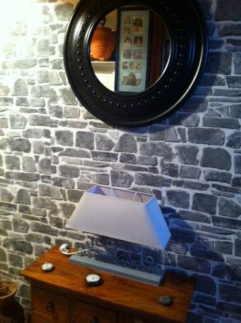 faux mur de pierre un trompe l 39 oeil playroom playroom. Black Bedroom Furniture Sets. Home Design Ideas