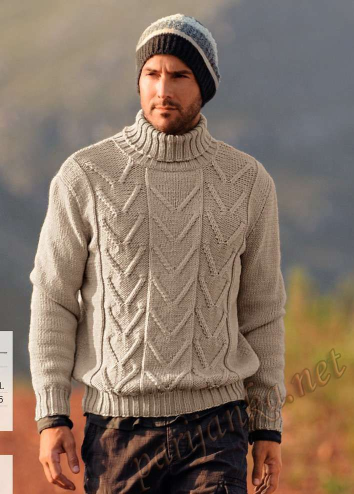Пуловер и шапка   } Knitting Patterns {   Pinterest   Sueter hombre ...