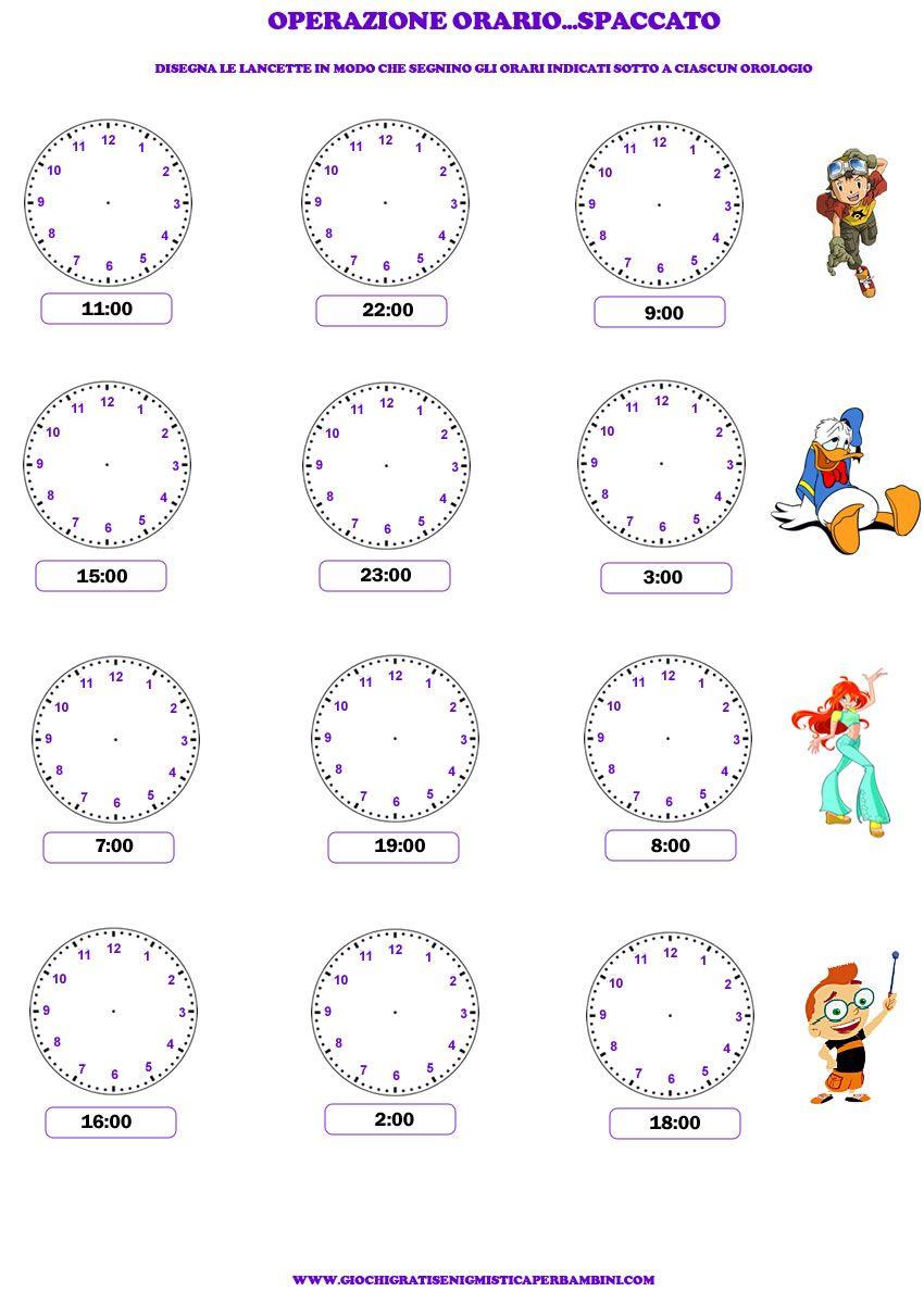 Esercizio per imparare a leggere l 39 orologio progetti da for Come leggere i progetti