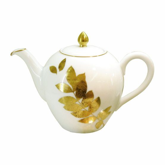 Bernardaud Vegetal Gold Dinnerware Tea Pots Gold Dinnerware Bernardaud