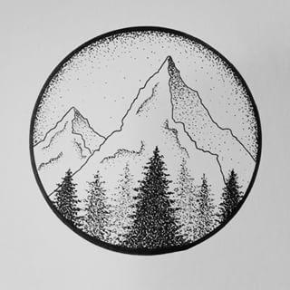 tattoo forest mountain - Recherche Google