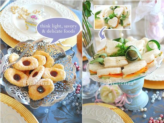 serving and presentation ideas for tea party food