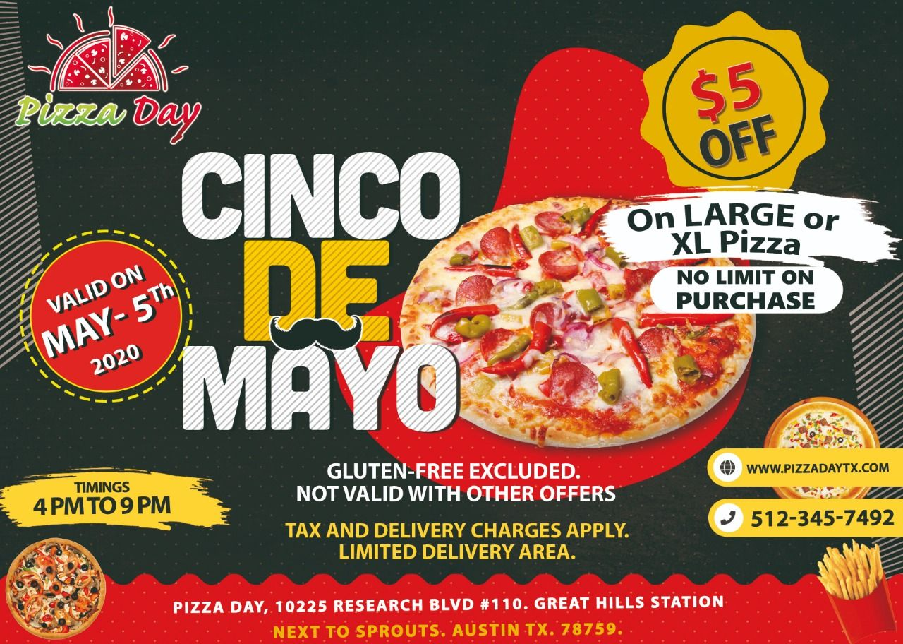 Cinco De Mayo In 2020 Pizza Day Eat Local Gluten Free