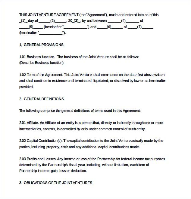 Free Joint Venture Agreement Template , Joint Venture Agreement Template ,  Knowing The Detail Information Related